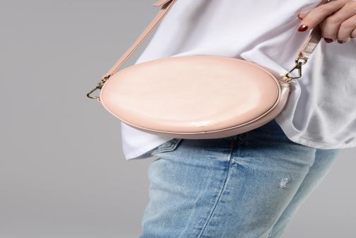 Handbags Louvreuse KASIMIR MINI LEATHER Pink view from underneath / model view