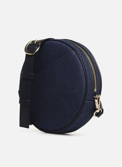 Borse Louvreuse KASIMIR MINI CANVAS WAISTBAG Azzurro modello indossato