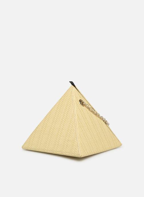 Bolsos de mano Louvreuse CLEO RAFFIA Amarillo vista del modelo
