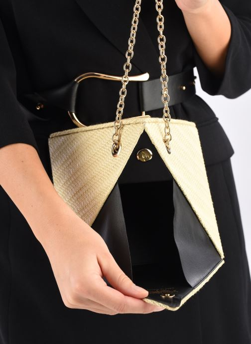 Handbags Louvreuse CLEO RAFFIA Yellow back view