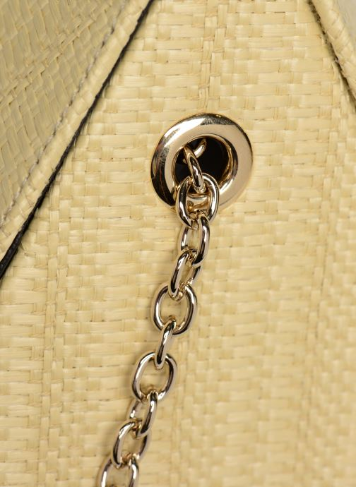 Bolsos de mano Louvreuse CLEO RAFFIA Amarillo vista lateral izquierda