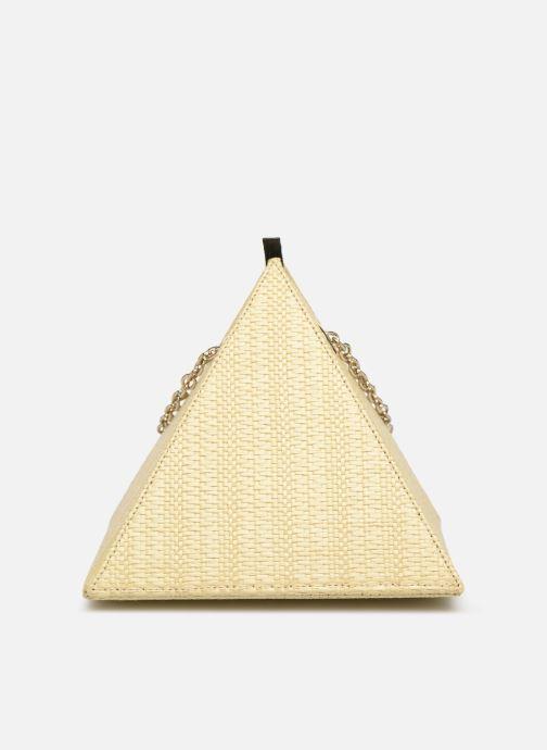 Bolsos de mano Louvreuse CLEO RAFFIA Amarillo vista de detalle / par