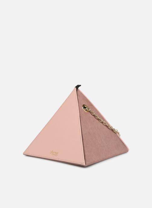 Bolsos de mano Louvreuse CLEO LEATHER Rosa vista del modelo