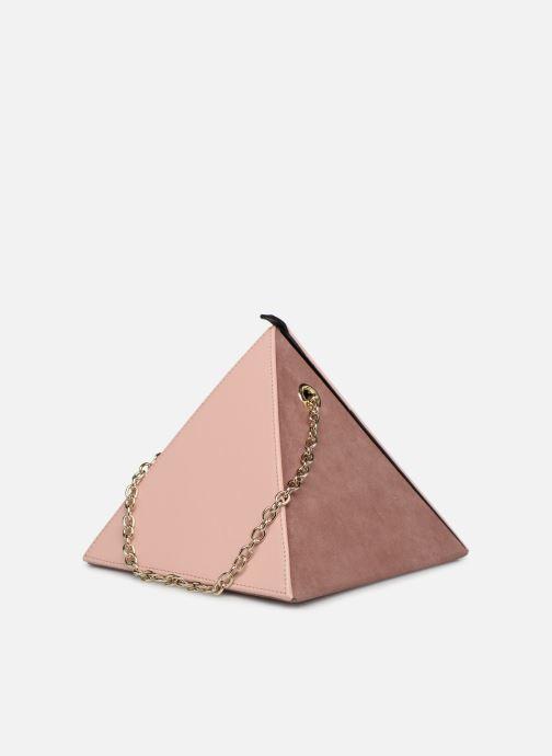 Handtaschen Louvreuse CLEO LEATHER rosa ansicht von rechts