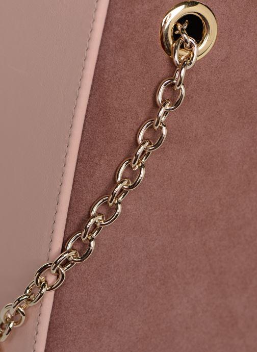 Bolsos de mano Louvreuse CLEO LEATHER Rosa vista lateral izquierda