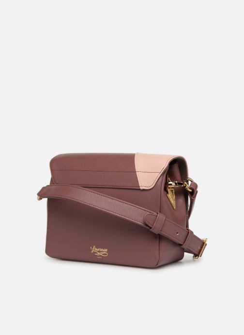 Handbags Louvreuse EUGENE LEATHER Purple view from the right