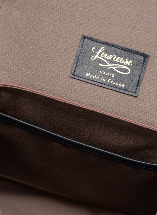 Handtassen Louvreuse EUGENE LEATHER Paars achterkant