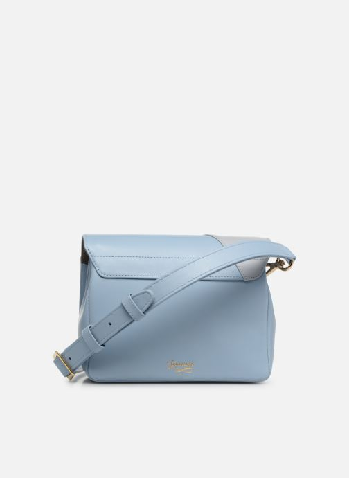 Handtaschen Louvreuse EUGENE LEATHER blau ansicht von vorne