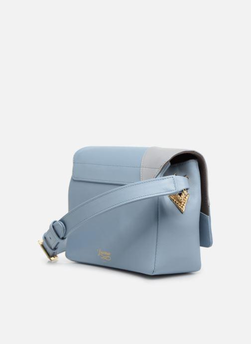 Bolsos de mano Louvreuse EUGENE LEATHER Azul vista lateral derecha