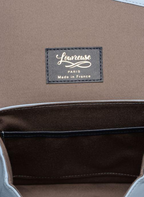 Handtaschen Louvreuse EUGENE LEATHER blau ansicht von hinten