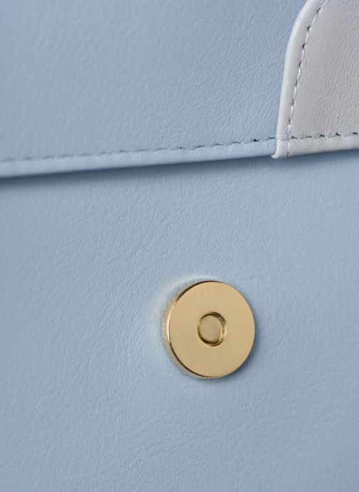 Sacs à main Louvreuse EUGENE LEATHER Bleu vue gauche