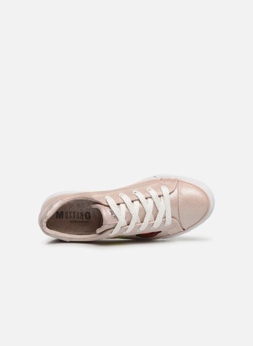 Trainers Mustang shoes Melina Pink view from the left