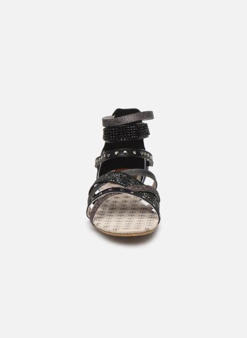 Sandales et nu-pieds Mustang shoes Romane Noir vue portées chaussures