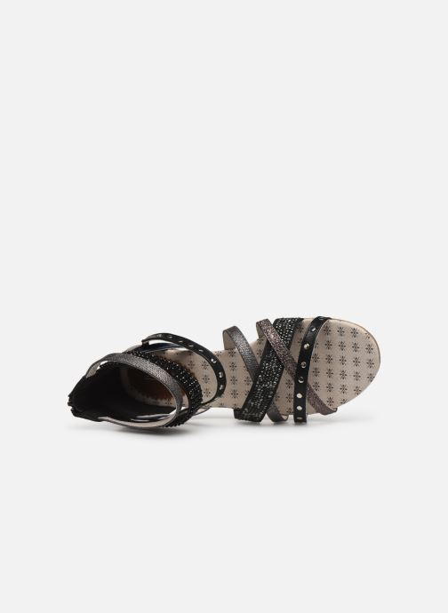 Sandalen Mustang shoes Romane schwarz ansicht von links