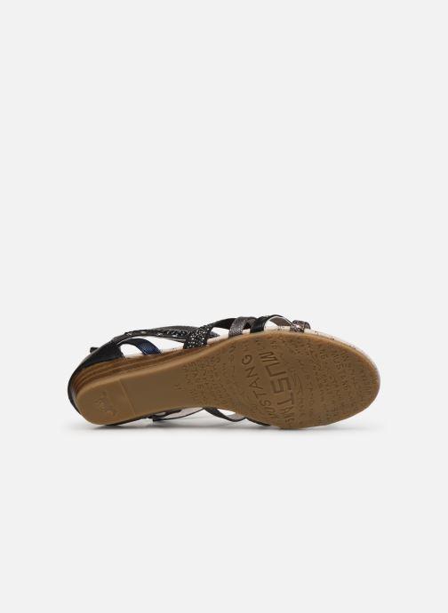Sandalen Mustang shoes Romane schwarz ansicht von oben