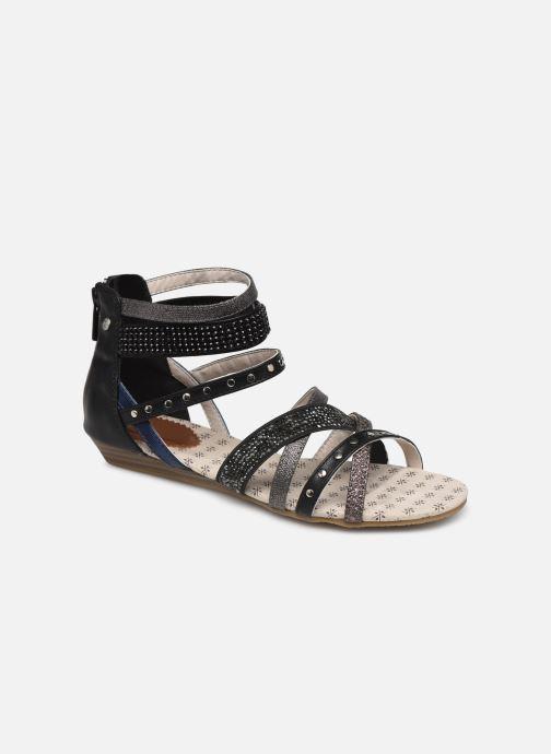 Sandaler Mustang shoes Romane Svart detaljerad bild på paret
