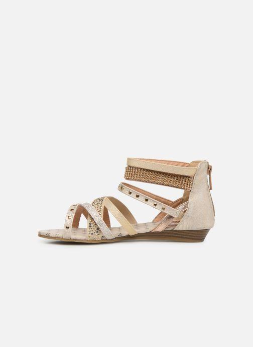 Sandales et nu-pieds Mustang shoes Romane Or et bronze vue face