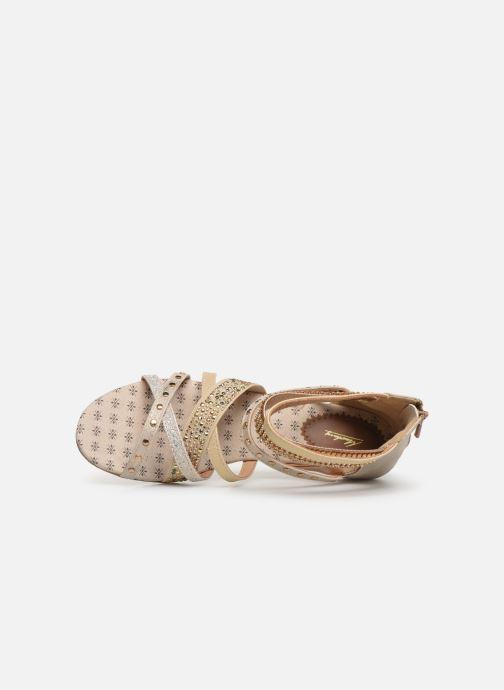 Sandales et nu-pieds Mustang shoes Romane Or et bronze vue gauche
