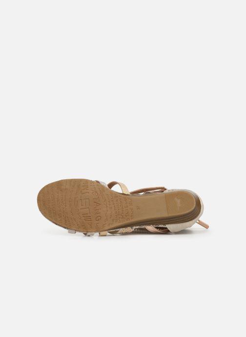 Sandales et nu-pieds Mustang shoes Romane Or et bronze vue haut