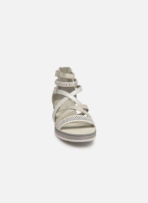 Sandalen Mustang shoes Sixtine silber schuhe getragen