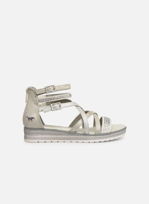 Sandals Mustang shoes Sixtine Silver back view