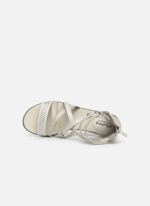 Sandalen Mustang shoes Sixtine silber ansicht von links