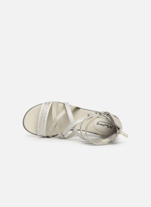 Sandals Mustang shoes Sixtine Silver view from the left