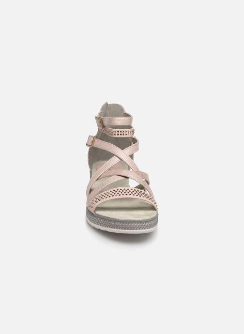 Sandales et nu-pieds Mustang shoes Sixtine Rose vue portées chaussures
