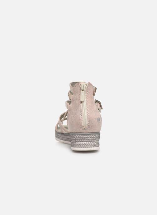 Sandales et nu-pieds Mustang shoes Sixtine Rose vue droite