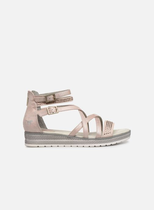 Sandals Mustang shoes Sixtine Pink back view