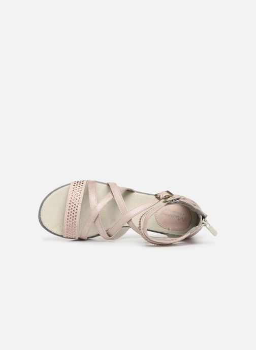 Sandals Mustang shoes Sixtine Pink view from the left