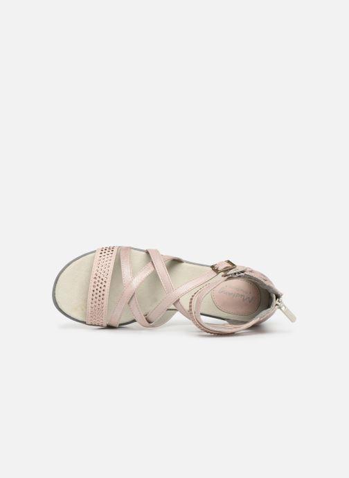 Sandales et nu-pieds Mustang shoes Sixtine Rose vue gauche