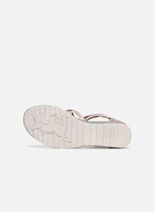 Sandales et nu-pieds Mustang shoes Sixtine Rose vue haut