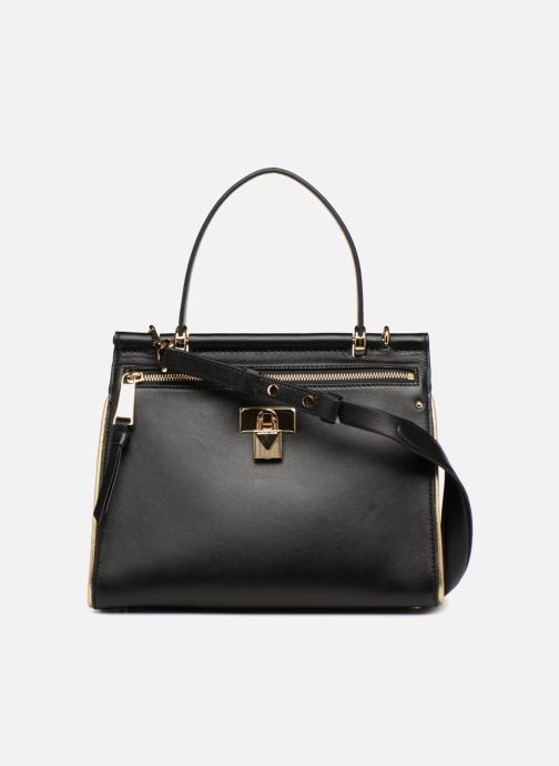 Sacs à main Michael Michael Kors Jasmine MD TH Satchel Noir vue face