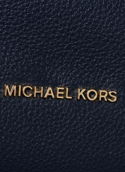 Sacs à main Michael Michael Kors Crosby LG Shoulder Bleu vue gauche