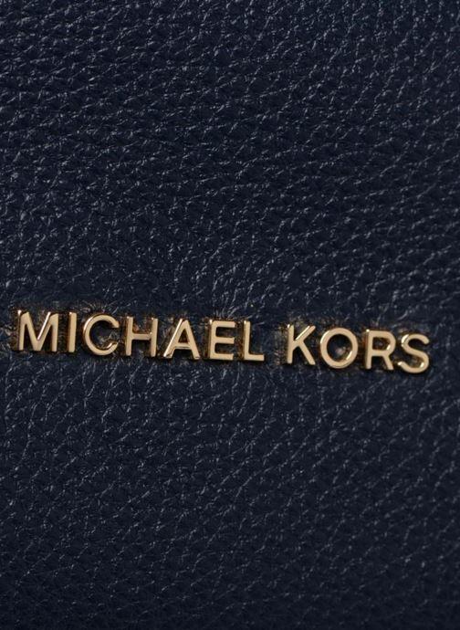 Bolsos de mano Michael Michael Kors Crosby LG Shoulder Azul vista lateral izquierda