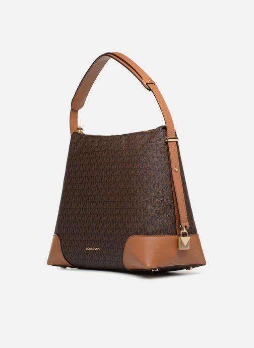 Handtaschen Michael Michael Kors Crosby LG Shoulder braun schuhe getragen