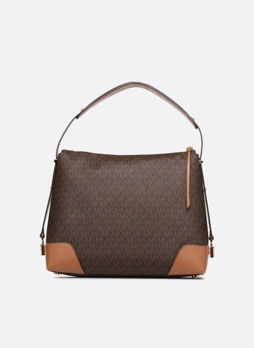 Handtaschen Michael Michael Kors Crosby LG Shoulder braun ansicht von vorne