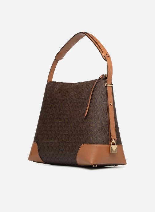 Sacs à main Michael Michael Kors Crosby LG Shoulder Marron vue droite