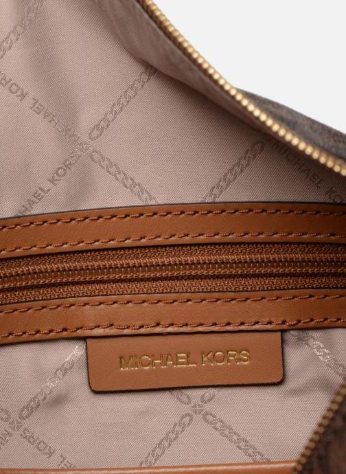 Handtaschen Michael Michael Kors Crosby LG Shoulder braun ansicht von hinten