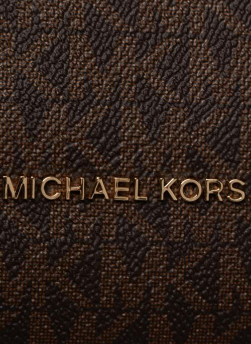 Handtaschen Michael Michael Kors Crosby LG Shoulder braun ansicht von links