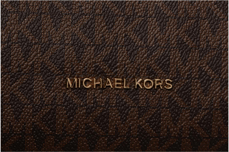 Sacs à main Michael Michael Kors Crosby LG Shoulder Marron vue gauche