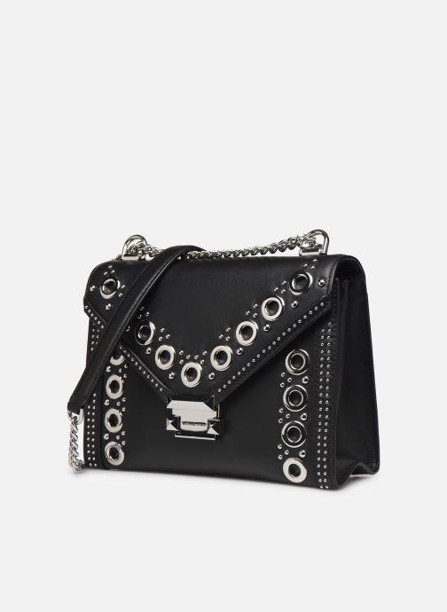 Bolsos de mano Michael Michael Kors Whitney LG Shoulder Negro vista del modelo