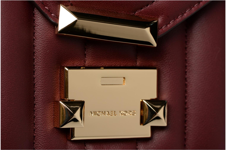 Sacs à main Michael Michael Kors Whitney SM Shoulder Bordeaux vue gauche
