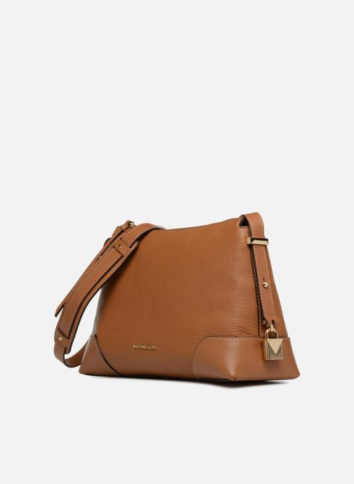 Handtassen Michael Michael Kors Crossby MD Messenger Bruin model