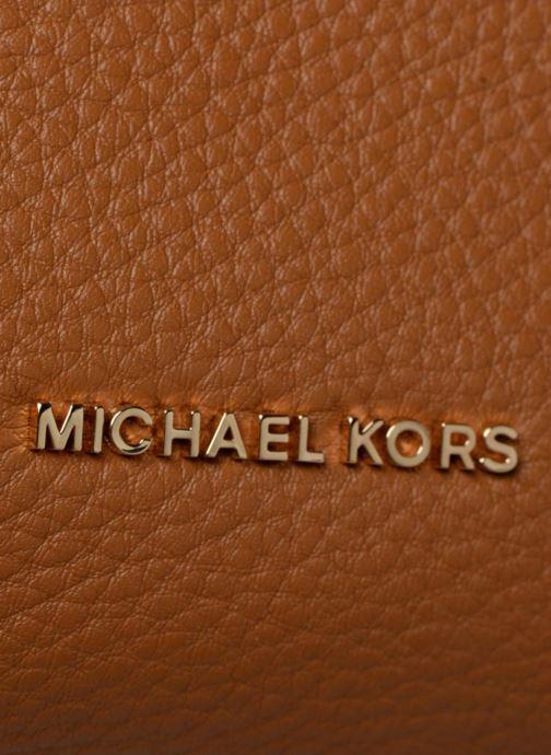 Bolsos de mano Michael Michael Kors Crossby MD Messenger Marrón vista lateral izquierda