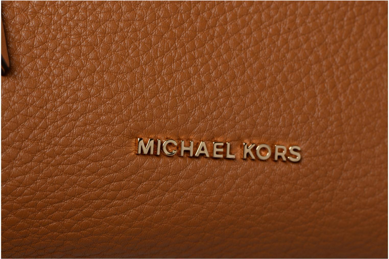 Sacs à main Michael Michael Kors Crossby MD Messenger Marron vue gauche
