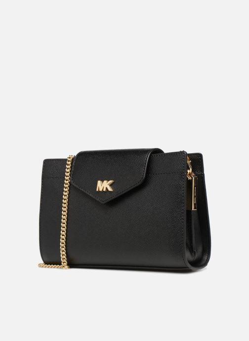 Sacs à main Michael Michael Kors MD Convertible Crossbody Clutch Noir vue portées chaussures