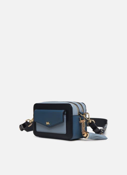 Handväskor Michael Michael Kors SM Pocket Camera Bag Blå bild av skorna på