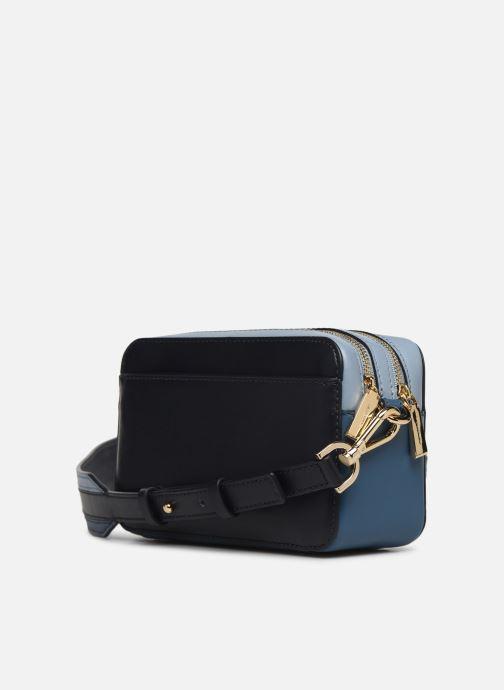 Handväskor Michael Michael Kors SM Pocket Camera Bag Blå Bild från höger sidan